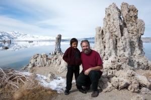 Nobu and Jason at Mono Lake