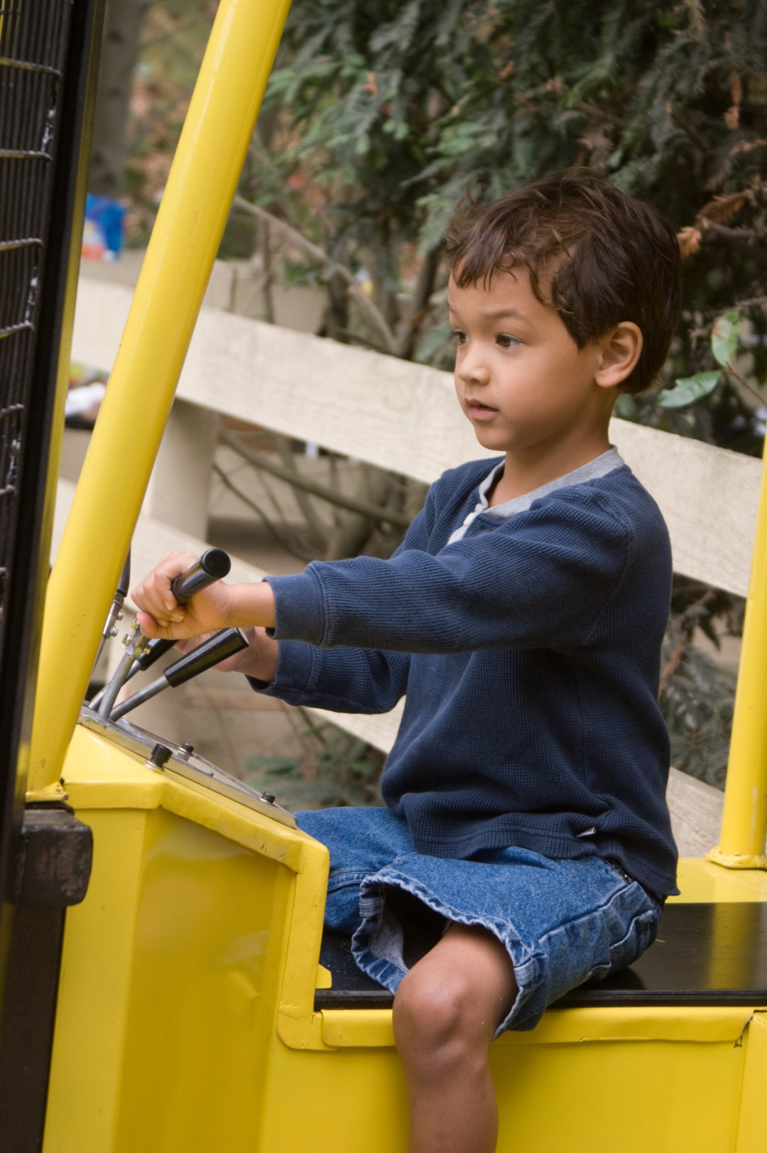 Driving the digger