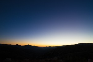Sunset in the San Gabriels