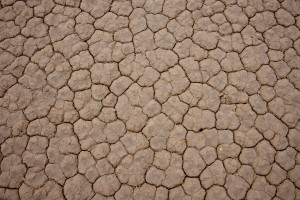 Racetrack dry lakebed